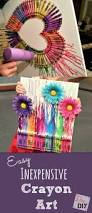 Thoughtful Christmas Gifts For Friends - how to make easy and affordable diy crayon art crayon art