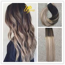 hot hair extensions balayage ombre in remy human hair extensions brown ash