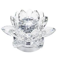 1 light led lotus style crystal table lamp chrome from litecraft
