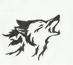 tribal wolf design by jacob chennell on deviantart