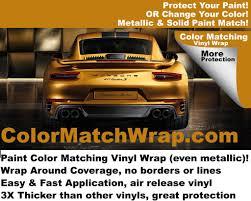 Paint Color Match by Porsche Saffron Yellow 7n Vinyl Wrap Color Match Wrap U2013 Colorx