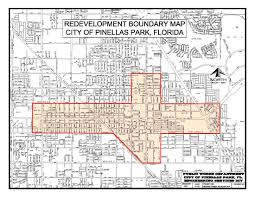 Florida Map By City by The Pinellas Park Community Redevelopment District