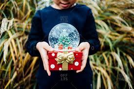 a christmas snow snow globe stock photos offset