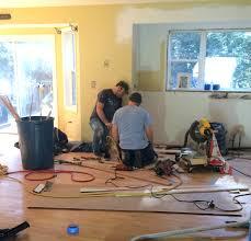 Kitchen Hardwood Flooring Kitchen Progress Staining Hardwood Floors Jenna Burger