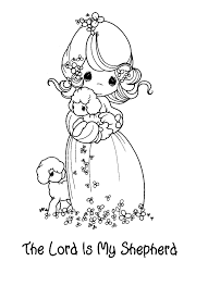 coloring download the lord is my shepherd coloring page the lord