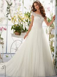 wedding gowns with sleeves mori 5403 cap sleeves gown bridal dress