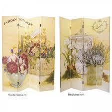 paravent holz garten dekowand raumteiler paravent holz trennwand 4 panele garten motive