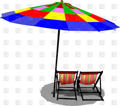 Clip On Umbrellas For Beach Chairs Two Beach Chairs And Colored Umbrella Vector Image 51857 U2013 Rfclipart