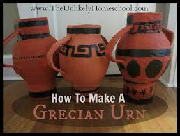 the unlikely homeschool greece unit how to make a grecian urn