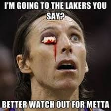 Peace Memes - steve nash would look pretty spooky if he caught one of metta world
