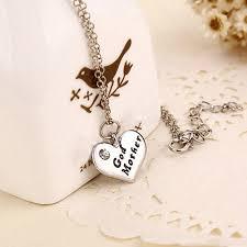 godmother necklace heart pendant rhinestone godmother necklace jewelry mothers