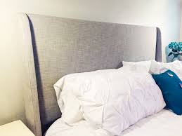 upholstered wingback headboard queen or king modern west elm