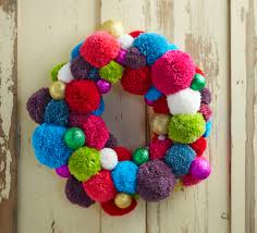 how to make a pom pom wreath pom pom wreath wreaths and pom poms