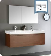 Teak Bathroom Cabinet Fresca Fvn8042tk Mezzo 59