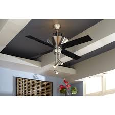 lowes ceiling fans 52 inch shop harbor breeze galileo 52 in brushed chrome downrod mount
