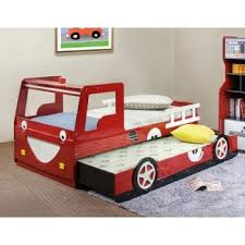 Costco Red Fire Truck Bed With Trundle Possibly Instead Of - Race car bunk bed