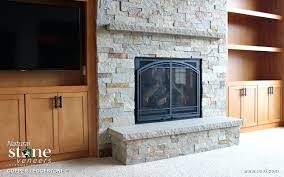 stone veneer fireplace installation over brick pictures copper