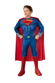 amazon com man of steel child u0027s deluxe lite up superman costume