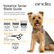 yorkie hair cut chart clipper blades for grooming the yorkshire terrier hope this helps