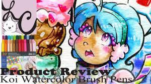 art supply product review sakura koi watercolor brush pens 24