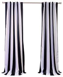 Striped Blackout Curtains Interesting Striped Blackout Curtains And Awning Black White