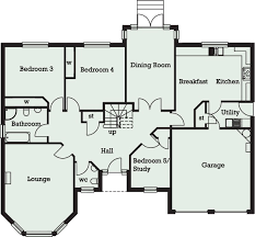 five bedroom floor plans staggering 5 bedroom bungalow design 9 house plans five