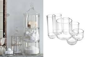 Cracked Glass Bathroom Accessories Clear Glass Bathroom Accessories Glass Canisters Paradigm Bath