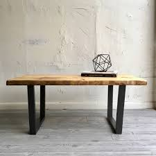 Handcrafted Wood Tables Industrial Chic Modern Coffee Table With Handcrafted Wood Top