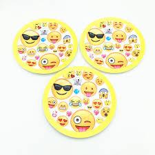 wedding party plates 10pcs emoji plates kids birthday wedding party supplies emoji