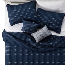 Navy Blue Coverlet Queen Navy Blake Microfiber Embroidered Multiple Piece Quilt Set 5 Pc