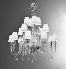 Shades For Chandeliers Modern Murano Chandelier L16k Clear Glass Murano