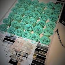 Teal Roses Everlasting Infinity Preserved Hat Box Roses Kent Essex London
