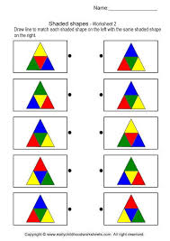 shaded shapes brain teaser worksheets 2