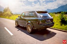wrapped range rover land rover range rover sport with the reworked front end and
