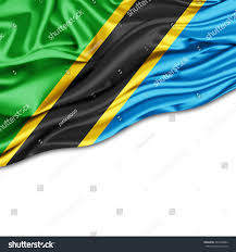 Tanzanian Flag Tanzania Flag Silk White Background Stock Illustration 284399882