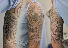 japanese koi half sleeve tattoo tattooed by johnny at the u2026 flickr