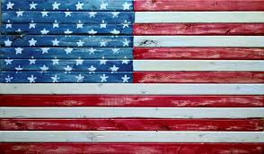American Flag In Text Wood American And Arkansas Flags Americana Don Byram Art