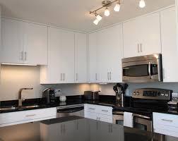 Designer Kitchen Cabinet Hardware White Contemporary Kitchen With Brushed Nickel Hardware Kitchen
