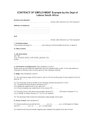 employment contract free template rent slips