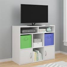 amazon com cosco lucerne media dresser with fabric bins white