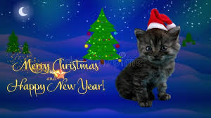 happy new year moving cards happy new year and merry christmas greeting card with text stock