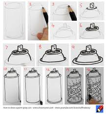 How To Graffiti With Spray Paint - how to draw a spray paint can shoo rayner u2013 author