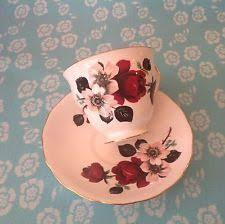 queen anne fine bone china tea cup saucer vintage signed mme henri
