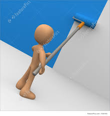 Wall Painters by Painting The Wall Stock Illustration I1261493 At Featurepics
