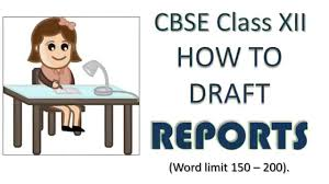 report writing format and samples cbse class 12 and class 11