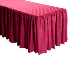 8 ft table skirt buy shirred stripe polyester table skirts best prices