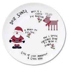 christmas plate personalised dear santa christmas plate tiger
