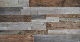 diy reclaimed wood accent wall grey and brown shades mixed