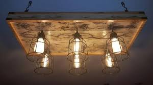 Bulb Light Fixture Craft Farmhouse Style Light Fixture White Wash 6 Bulb 4 Panel