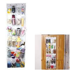 24 pockets transparent hanging closet foldable door hanging